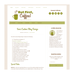 Semi-Custom Blog Design Sample