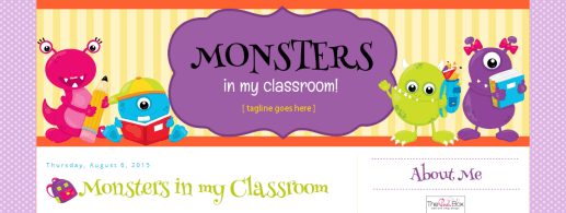 Monsters in my Classroom Blog