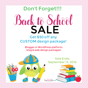 Don't Forget:  Back to School Sale in Progress!