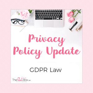 Privacy Policy Update / GDPR Law