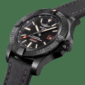 Breitling Avenger Blackbird 44 Black Titanium V17311101B1W1 - Side View - The Posh Watch Shop