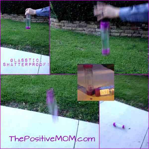 b85ad58f11 Glasstic Worry Free Bpa Free Glass Water Bottle Purple - Year of ...