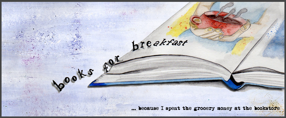 Books for Breakfast Letters Spilling Off Page