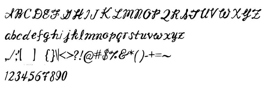 Lindsey Font Letters and Characters