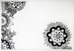 A henna tattoo design table top | The Postman's Knock by Lindsey Bugbee