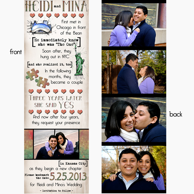 Save the Date Bookmark