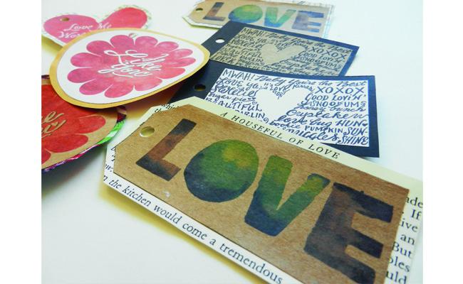 Valentine's Tags on Display