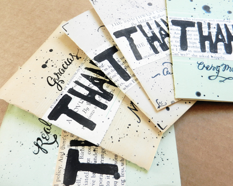 Handmade Thank You Cards | The Postman's Knock by Lindsey Bugbee