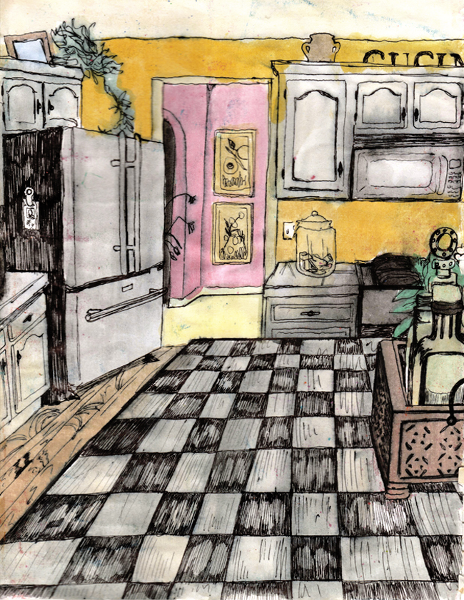 Sketchbook Page | The Postman's Knock by Lindsey Bugbee
