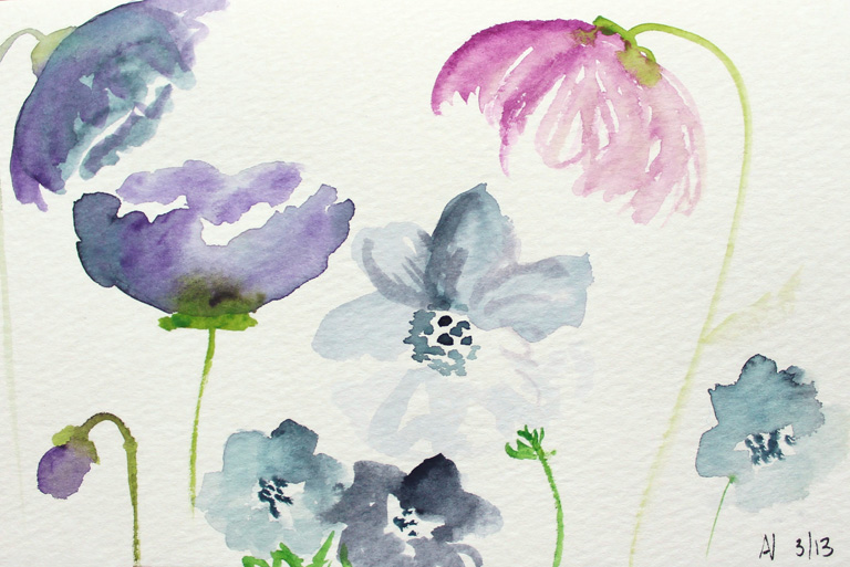 Watercolor Birthday Cards Tutorial ~ How to create watercolor flowers tutorial plus a gorgeous giveaway