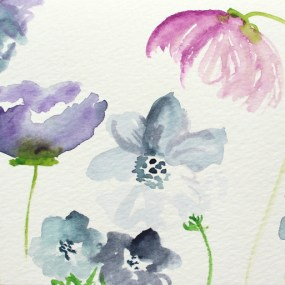 Watercolor Flowers Tutorial | The Postman's Knock