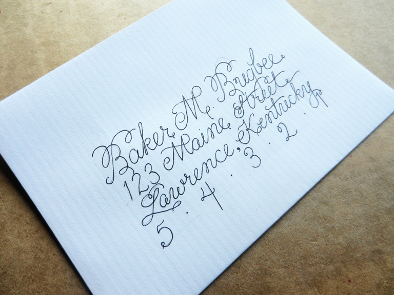 To create envelope calligraphy the postman s knock