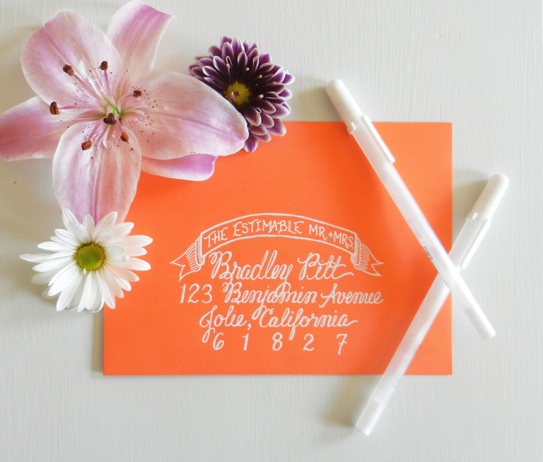 White Ink Calligraphy | The Postman's Knock