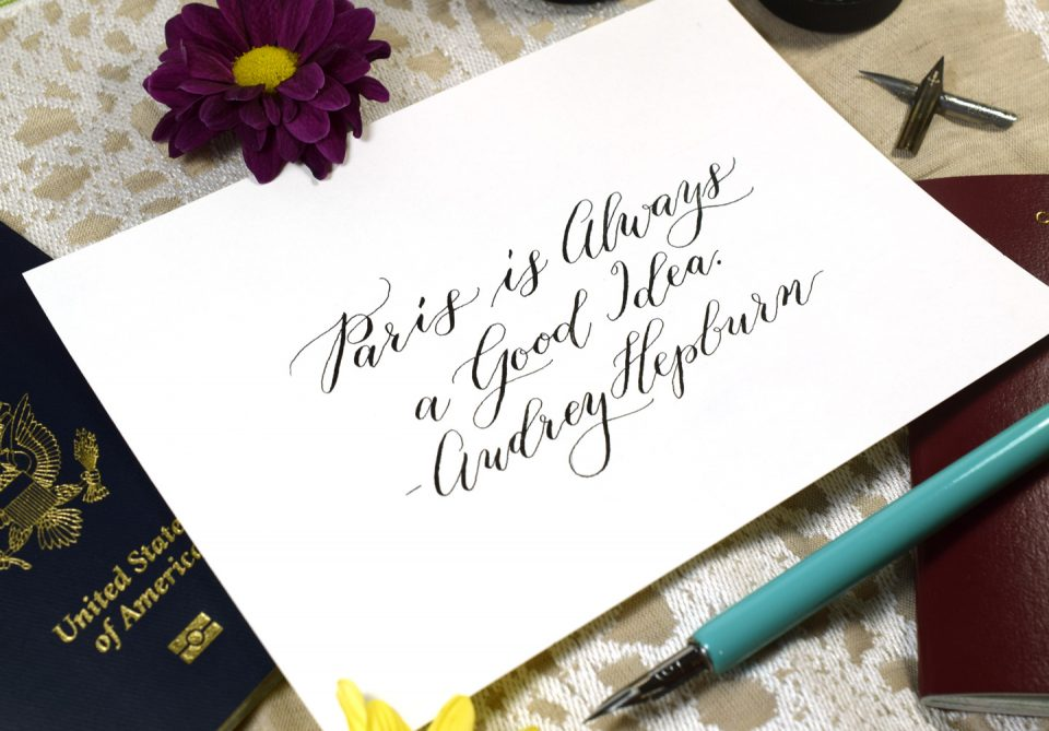 How to Use a Dip Pen to Create Modern Calligraphy | The Postman's Knock
