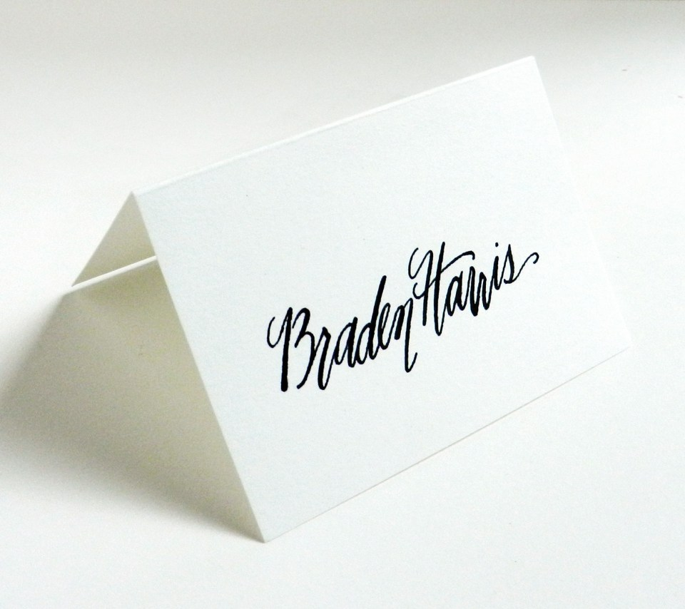 Place Card from 2013 | The Postman's Knock