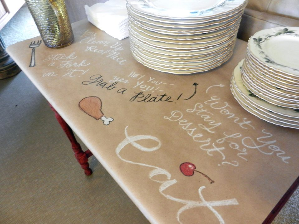 Brown Paper Table Cloth | The Postman's Knock