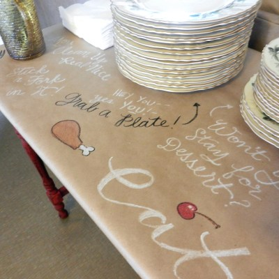 Brown Paper Tablecloth for the Holidays