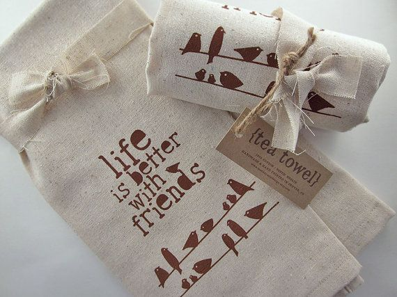 Screen Printed Tea Towel by Monkey Mind Design | Small Gift Idea - The Postman's Knock