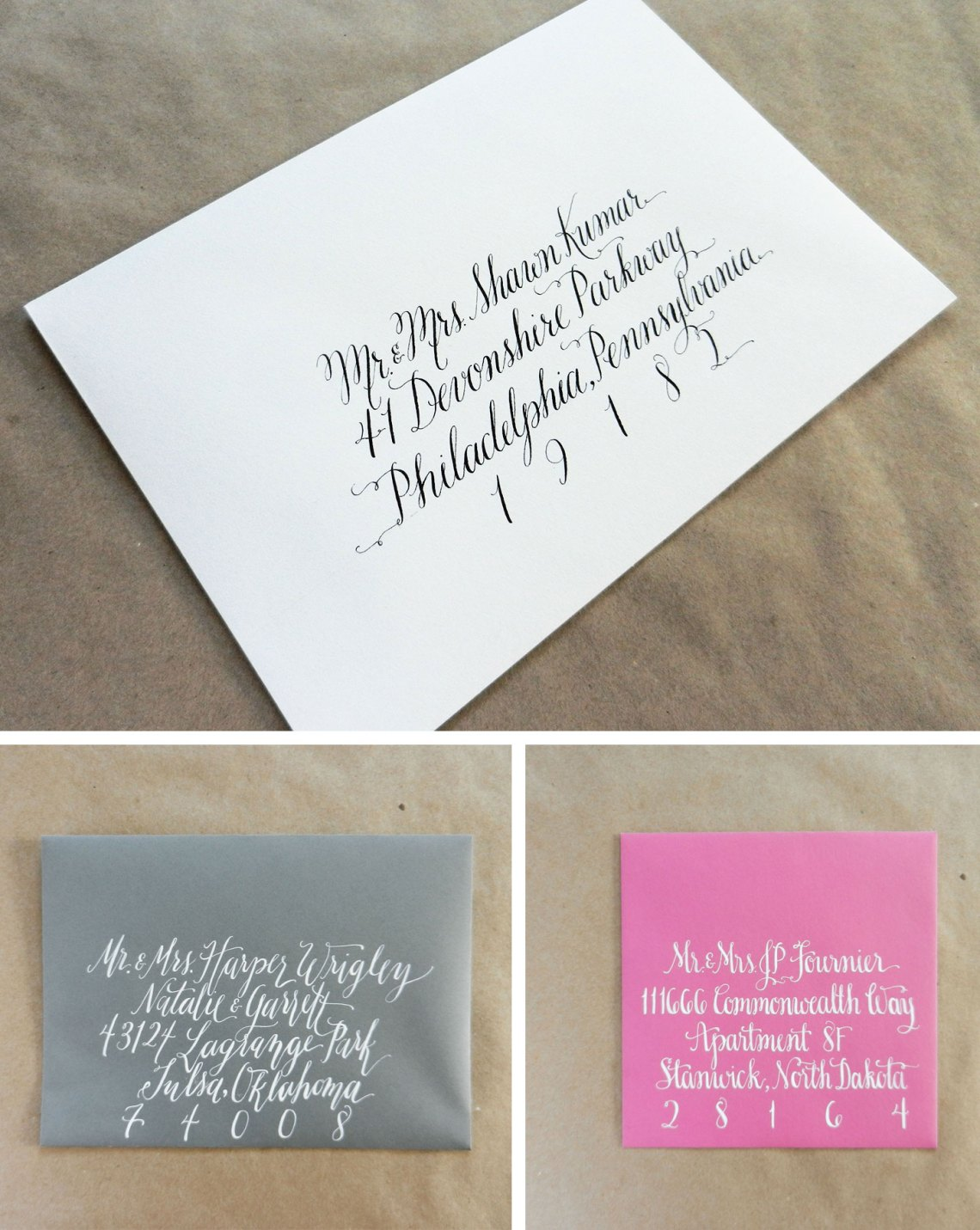 Envelope Calligraphy Collage | The Postman's Knock