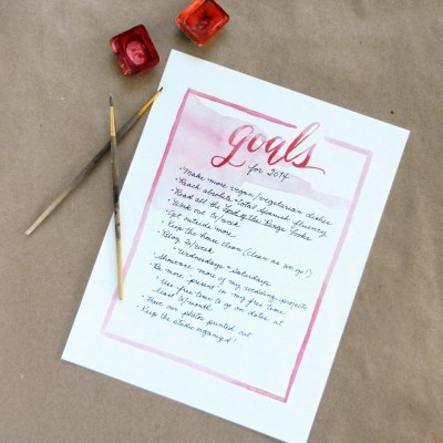 Printable Goal List and Tricks for Making Good Goals