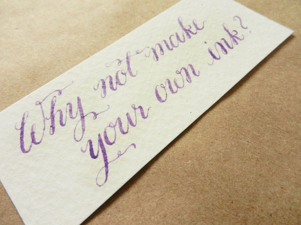 Using Colored Calligraphy Ink | The Postman's Knock