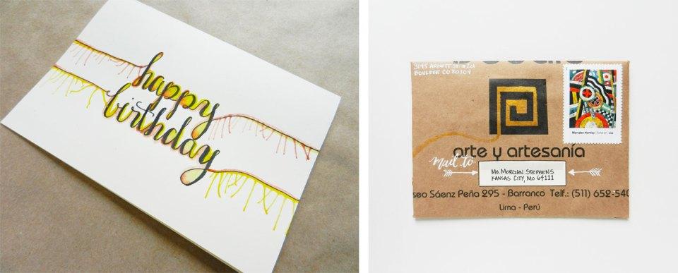 Handmade Birthday Card + Envelope | The Postman's Knock