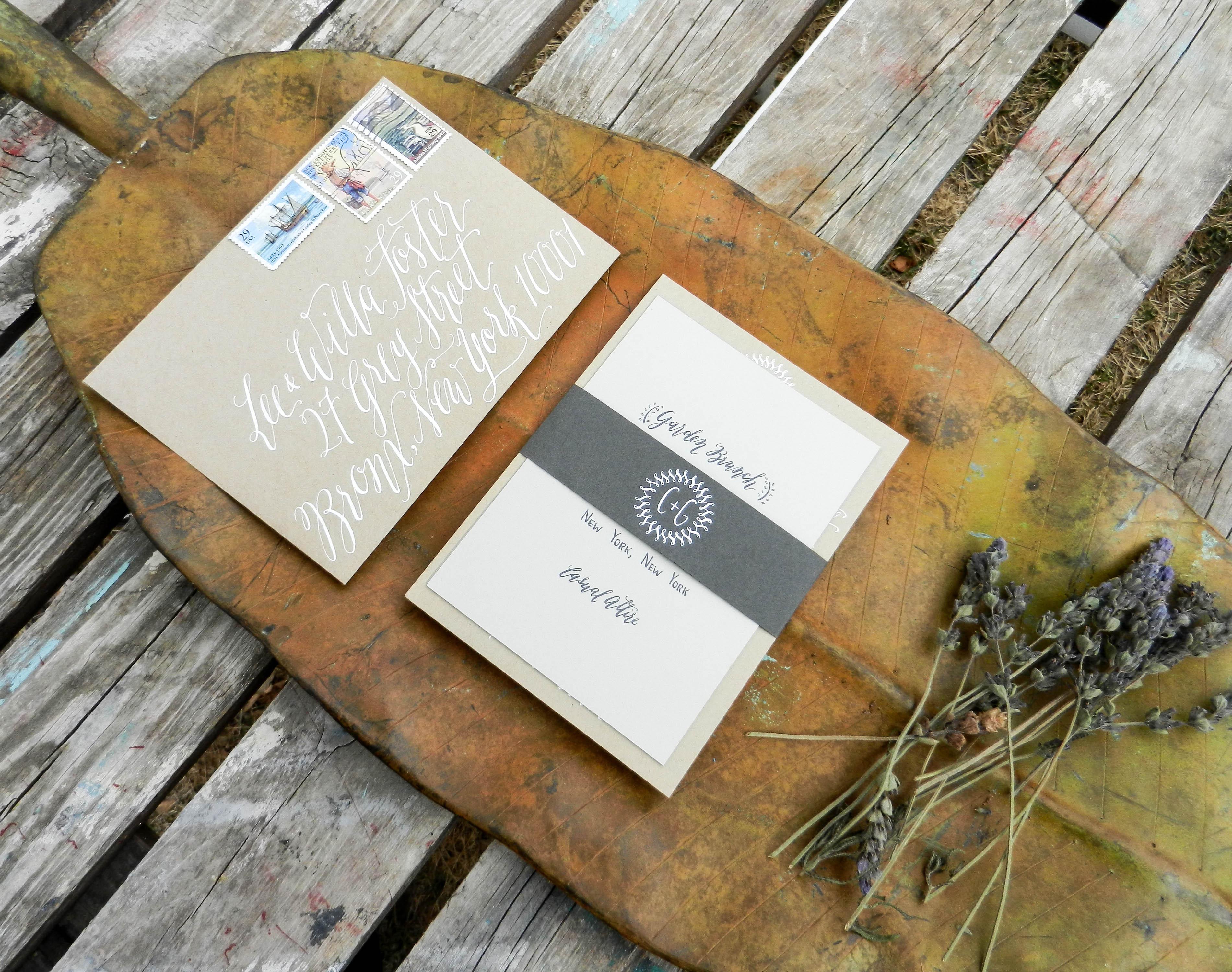 Kaitlin Style Calligraphy on Handwritten Invitations | The Postman's Knock