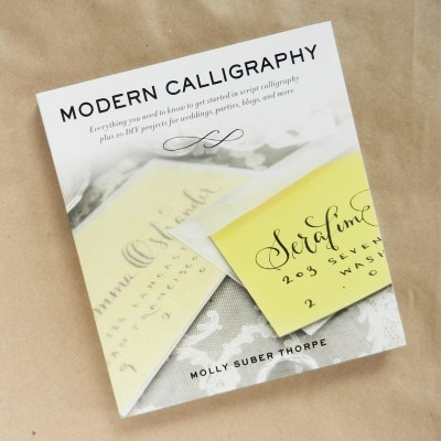 Modern Calligraphy by Molly Suber Thorpe: Book Review