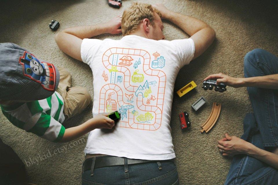 Railroad Play Mat Shirt | The Postman's Knock