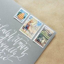 Vintage Stamp Collages on Envelopes | The Postman's Knock