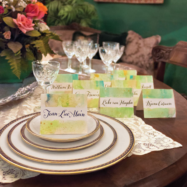 Molly Thorpe's Watercolor Wash Place Cards | The Postman's Knock