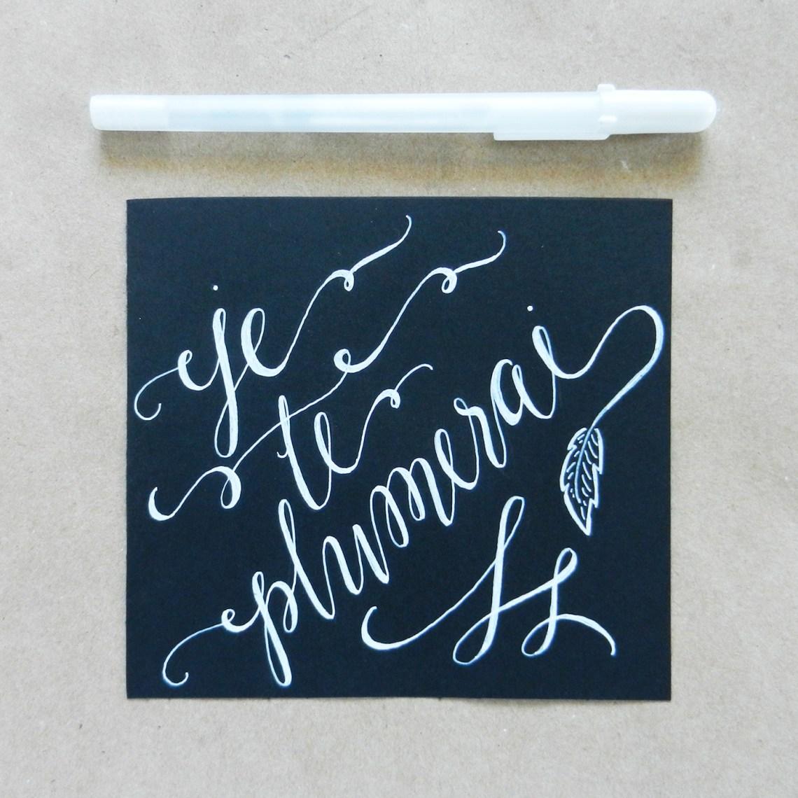 White Faux Calligraphy Tutorial | The Postman's Knock