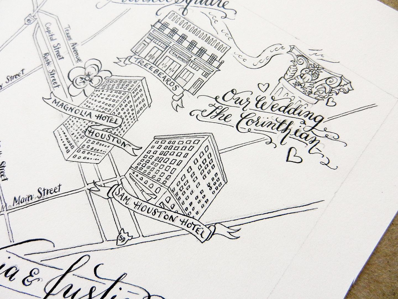 Illustrated Wedding Maps | The Postman's Knock