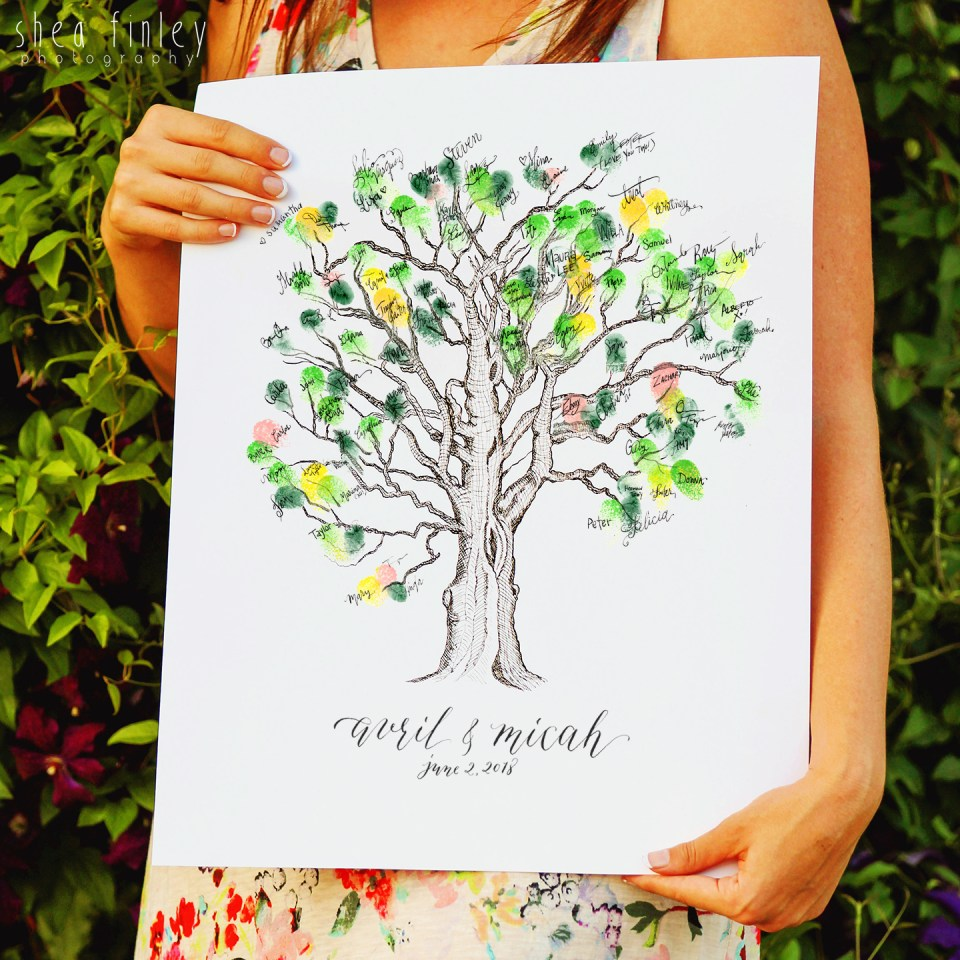 Thumbprint Guestbook Tree | The Postman's Knock