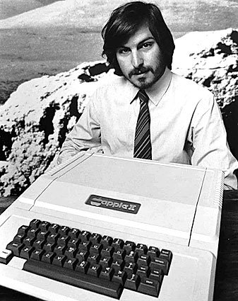 Steve Jobs in 1977, Courtesy of The Chicago Tribute