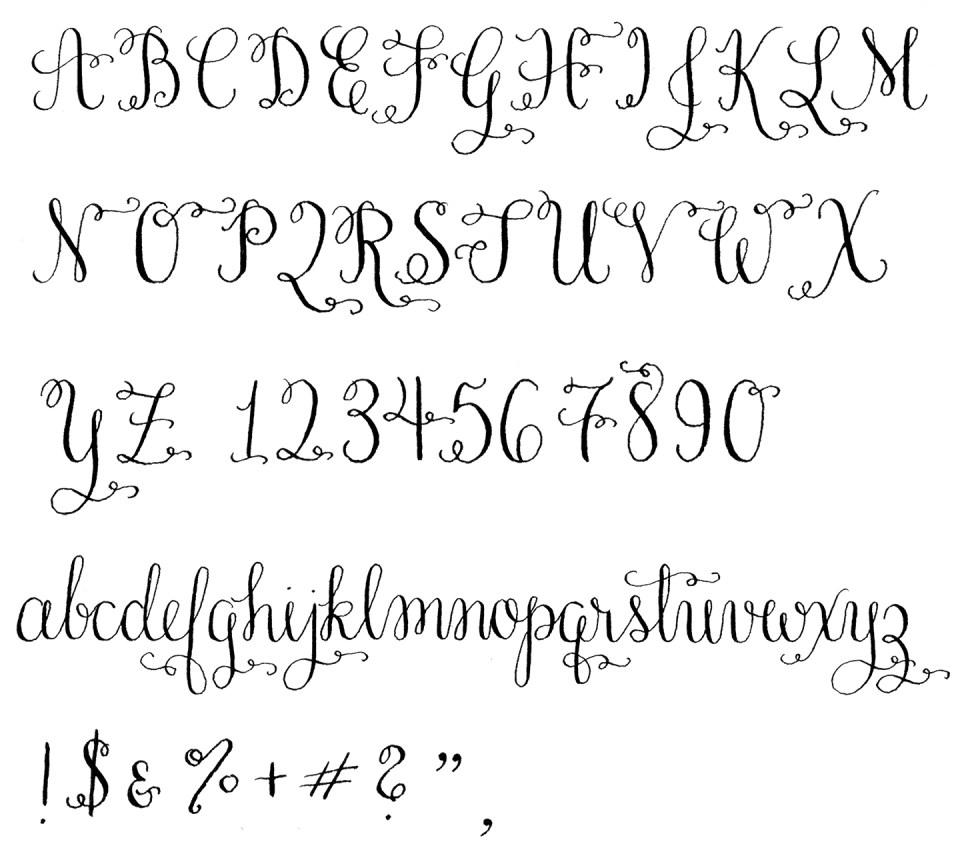 Amy Style Calligraphy Alphabet | The Postman's Knock