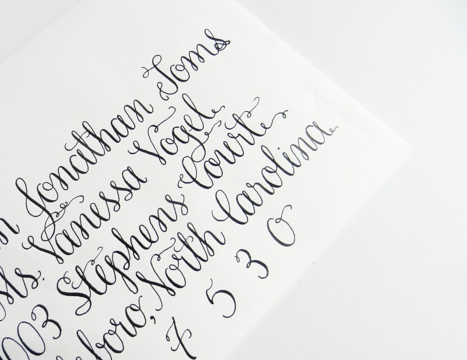 Amy Style Calligraphy | The Postman's Knock