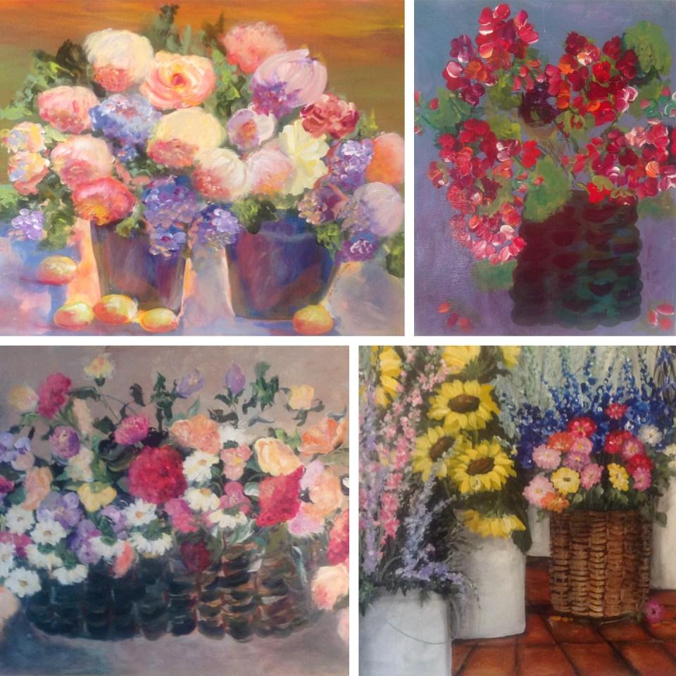 Flower Paintings by Jan McKinney | The Postman's Knock