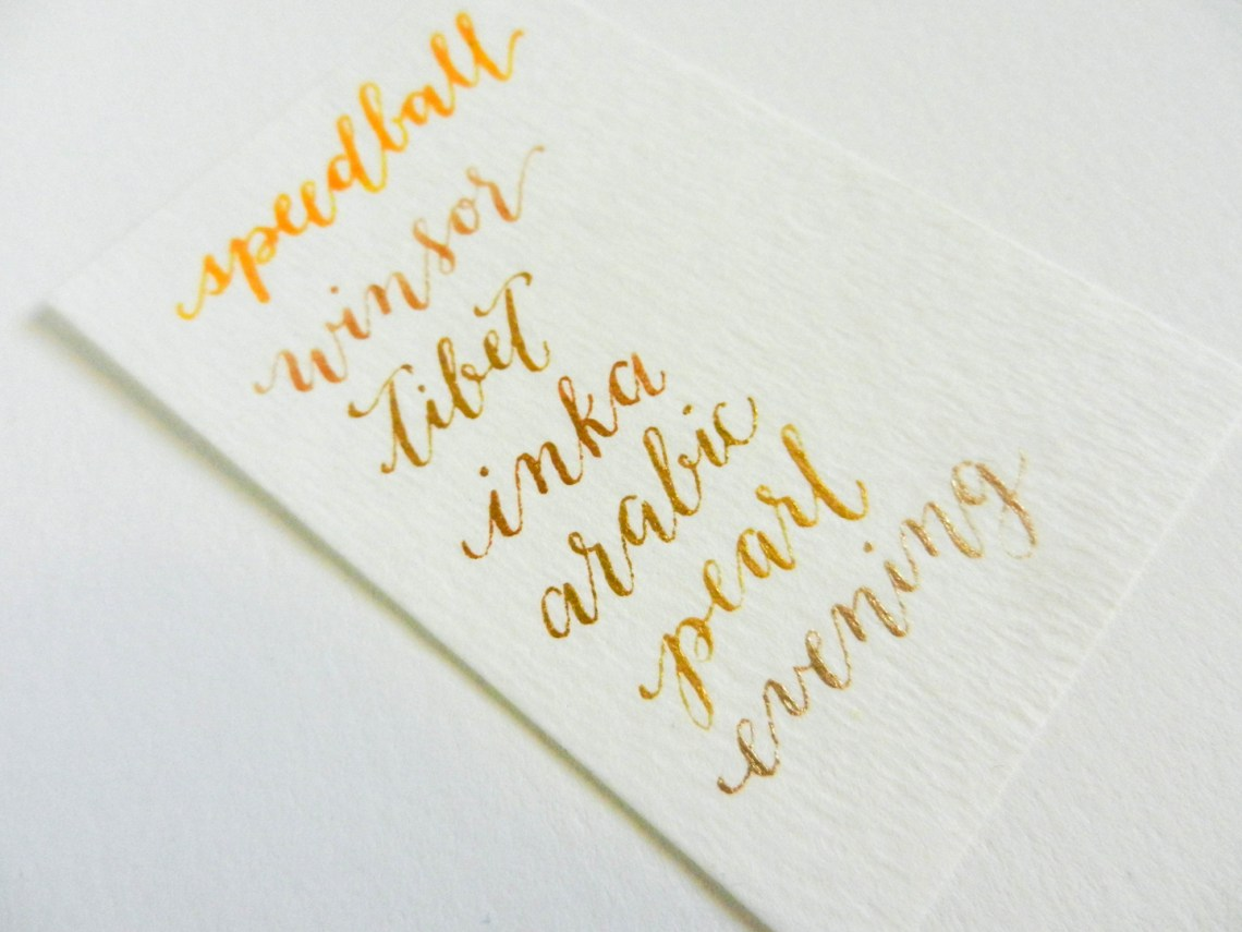 Gold Calligraphy Ink | The Postman's Knock