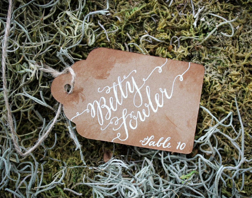 Handwritten Name Tags | The Postman's Knock
