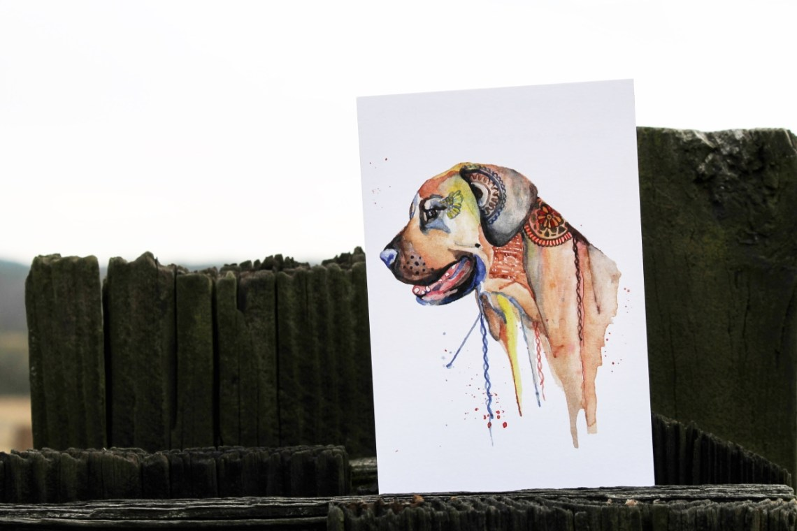 Dog Illustration | The Postman's Knock