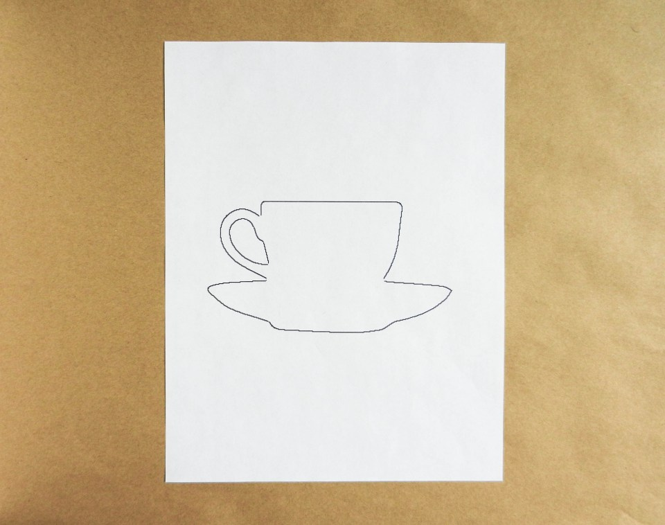 Teacup Cut Out | The Postman's Knock