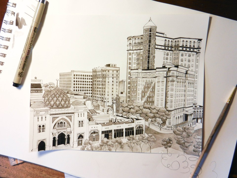 Atlanta Cityscape Illustration | The Postman's Knock