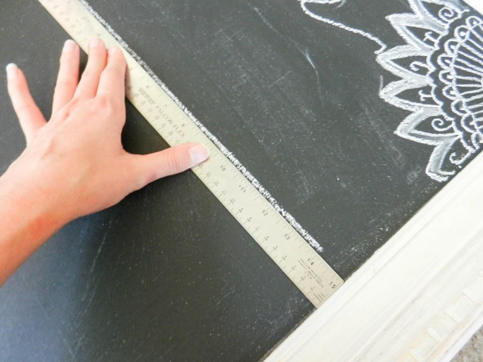 Calligraphy Chalkboard Calendar   The Postman's Knock