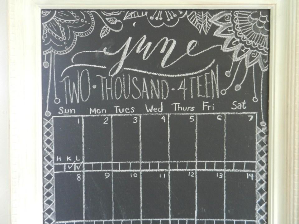 Calligraphy Chalkboard Calendar | The Postman's Knock