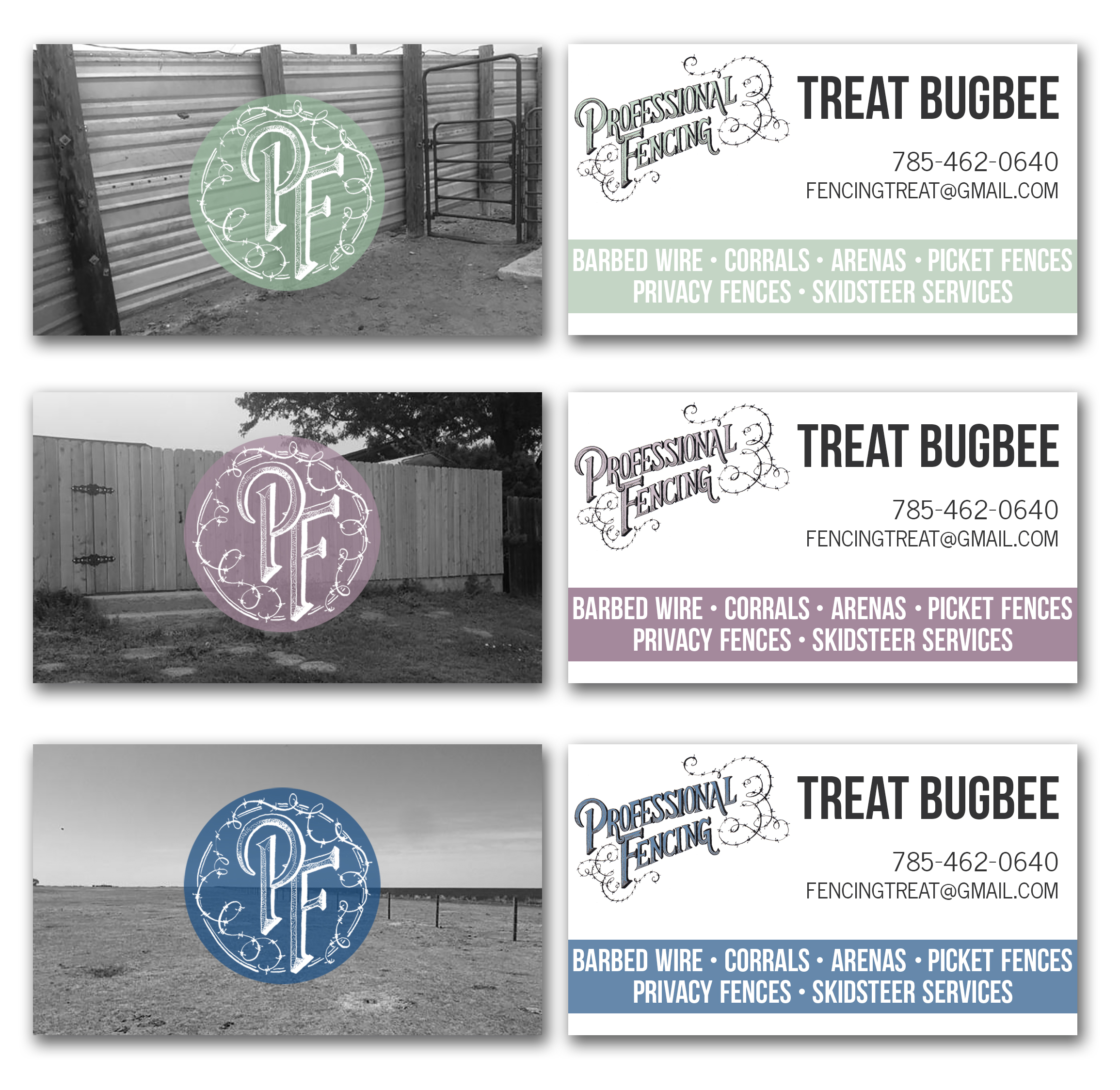 Professional Fencing Business Cards | The Postman's Knock