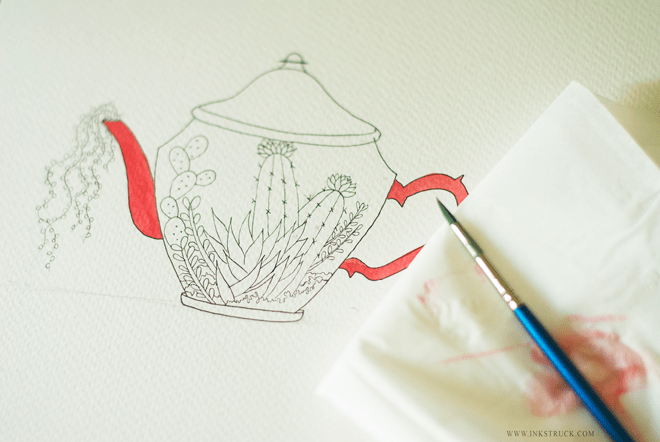 Make a Watercolor Illustration | Inkstruck Studio via The Postman's Knock