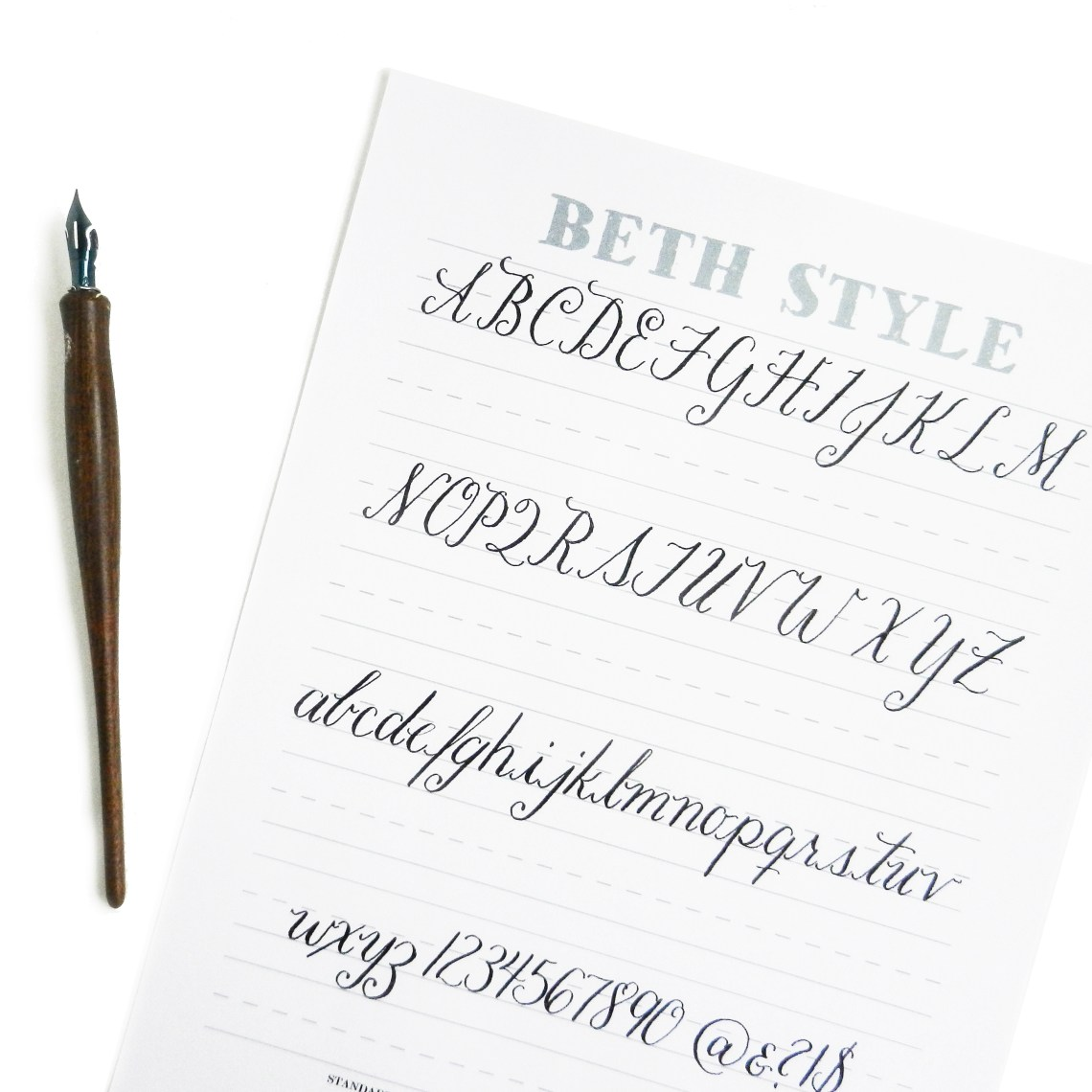 Beth style free calligraphy worksheet the postman s knock