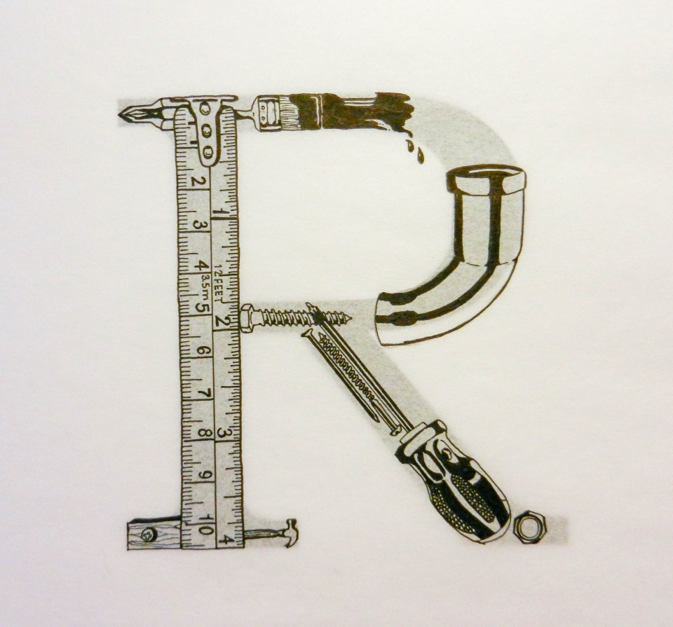 Typography Letter Art | The Postman's Knock