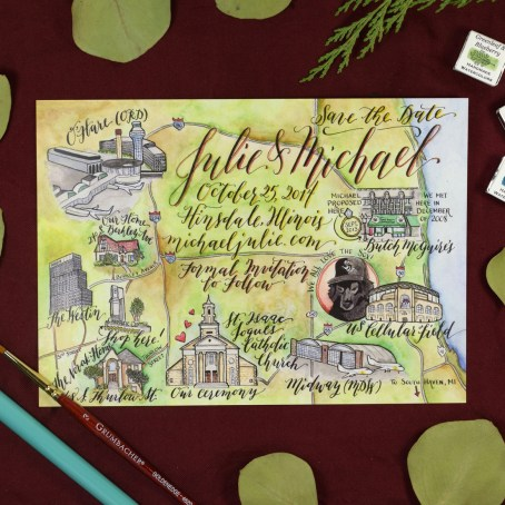 Kaitlin Style Calligraphy Map   The Postman's Knock